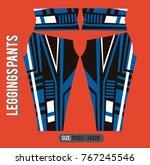 leggings pants fashion vector... | Shutterstock .eps vector #767245546