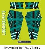 leggings pants fashion vector... | Shutterstock .eps vector #767245558