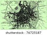 vector historical map of milan  ... | Shutterstock .eps vector #76725187