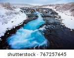 Bruarfoss Waterfall In Winter ...