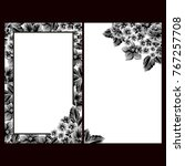 romantic invitation. wedding ... | Shutterstock . vector #767257708