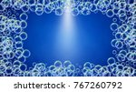 soap foam on gradient... | Shutterstock .eps vector #767260792