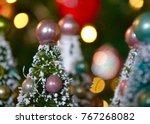 little model christmas trees... | Shutterstock . vector #767268082