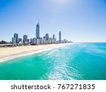 an aerial view of the surfers... | Shutterstock . vector #767271835