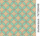 seamless geometric diamonds... | Shutterstock .eps vector #767280448