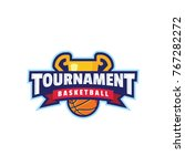 basketball tournament logo sport | Shutterstock .eps vector #767282272