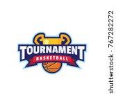 basketball tournament logo sport | Shutterstock .eps vector #767282272