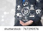 target audience concept.... | Shutterstock . vector #767290576