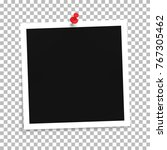 photo frame template with push... | Shutterstock .eps vector #767305462