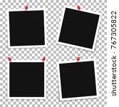 vector set of photo frame... | Shutterstock .eps vector #767305822