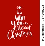 merry christmas happy new year... | Shutterstock .eps vector #767308225