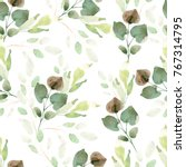 bright watercolor pattern with... | Shutterstock . vector #767314795