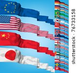 Set Of World Flags. High...