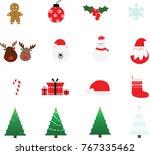 christmas icons set  christmas... | Shutterstock .eps vector #767335462