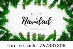 feliz navidad spanish merry... | Shutterstock .eps vector #767339308