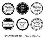 set of vintage badges for... | Shutterstock .eps vector #767340142
