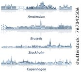 vector collection of amsterdam  ... | Shutterstock .eps vector #767342506