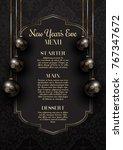 luxurious elegant new year's... | Shutterstock .eps vector #767347672