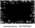 christmas border of snowflakes... | Shutterstock .eps vector #767349562