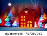 little decorative christmas... | Shutterstock . vector #767351062