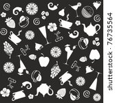 seamless food pattern. black... | Shutterstock .eps vector #76735564