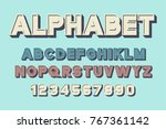 vector of retro font and... | Shutterstock .eps vector #767361142