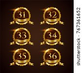 luxury badge anniversary 31 36... | Shutterstock .eps vector #767361652