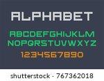 vector of modern font and... | Shutterstock .eps vector #767362018