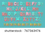 vector of poster font and... | Shutterstock .eps vector #767363476