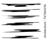 vector set of grunge brush... | Shutterstock .eps vector #767364196