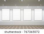 four blank vertical... | Shutterstock . vector #767365072