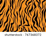 tiger texture black orange... | Shutterstock .eps vector #767368372