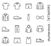 clothing for men icons set....