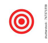 Flat Target Illustration. Red...