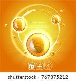 fish oil ads template  omega 3 .... | Shutterstock .eps vector #767375212