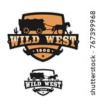 Old Wild West. Logo of emblem. - stock vector