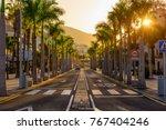 avenue las americas in playa de ... | Shutterstock . vector #767404246