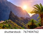 canyon masca on tenerife ... | Shutterstock . vector #767404762
