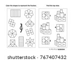 two visual math puzzles and...   Shutterstock .eps vector #767407432