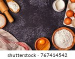 ingredients for baking    flour ... | Shutterstock . vector #767414542