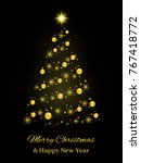abstract christmas tree... | Shutterstock . vector #767418772
