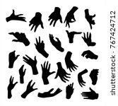 hand silhouette collection | Shutterstock .eps vector #767424712