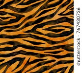 Tiger Black Yellow Orange Brow...