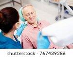 senior man looking at his...   Shutterstock . vector #767439286