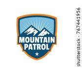 mountain patrol logo badge or... | Shutterstock .eps vector #767441956