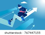 hurry up concept. business... | Shutterstock .eps vector #767447155