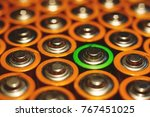 lithium battery stand out from... | Shutterstock . vector #767451025
