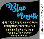vector set of hand drawn... | Shutterstock .eps vector #767453542