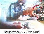 medical doctor in white uniform ...   Shutterstock . vector #767454886