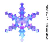 color snowflake for christmas... | Shutterstock .eps vector #767466082